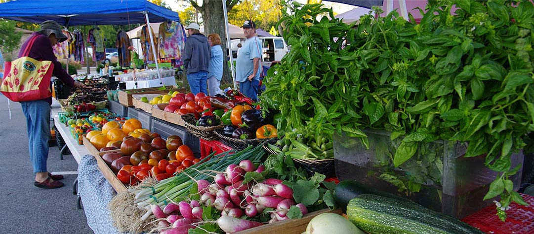 The local farmer's market